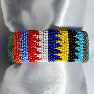 Jewelry - Made in AFRICA Fully Beaded Cuff Bracelet